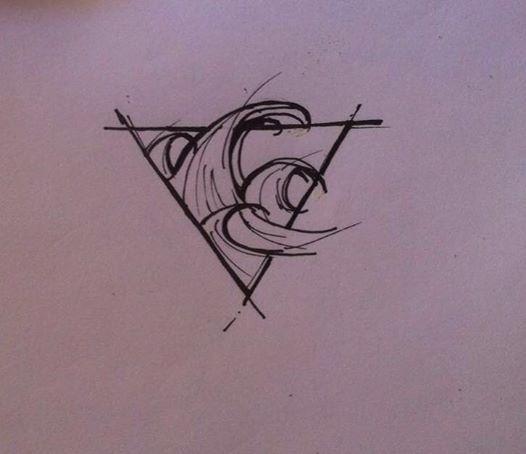 Aquarius Sign Tattoo Constellation Symbol (212)