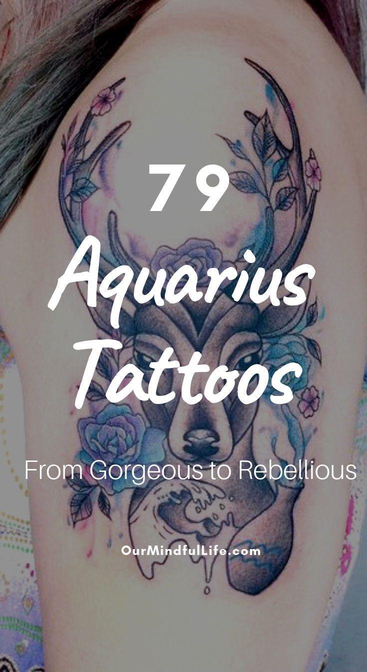 Aquarius Sign Tattoo Constellation Symbol (213)