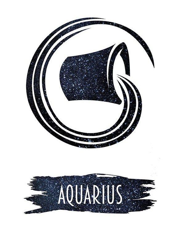 Aquarius Sign Tattoo Constellation Symbol (219)