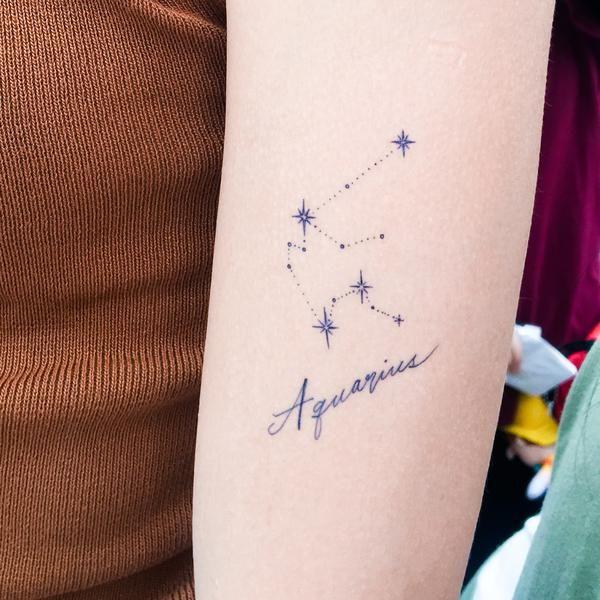 Aquarius Sign Tattoo Constellation Symbol (24)