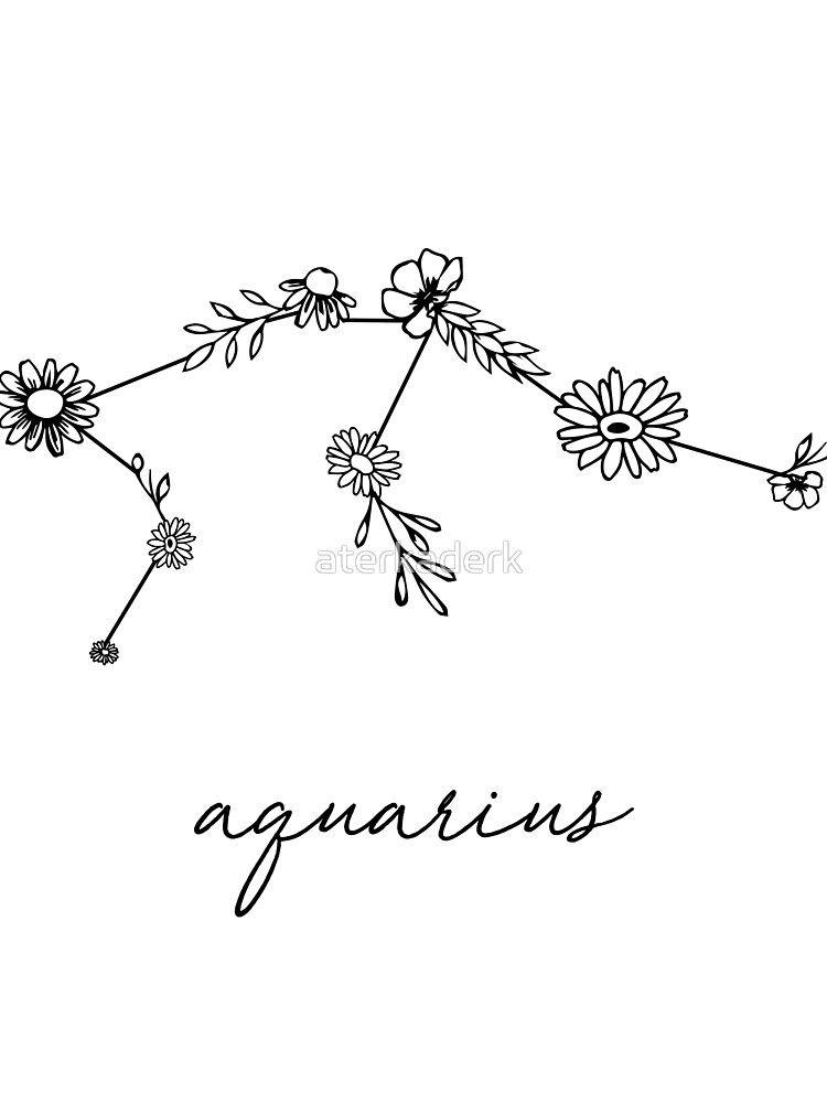 Aquarius Sign Tattoo Constellation Symbol (29)