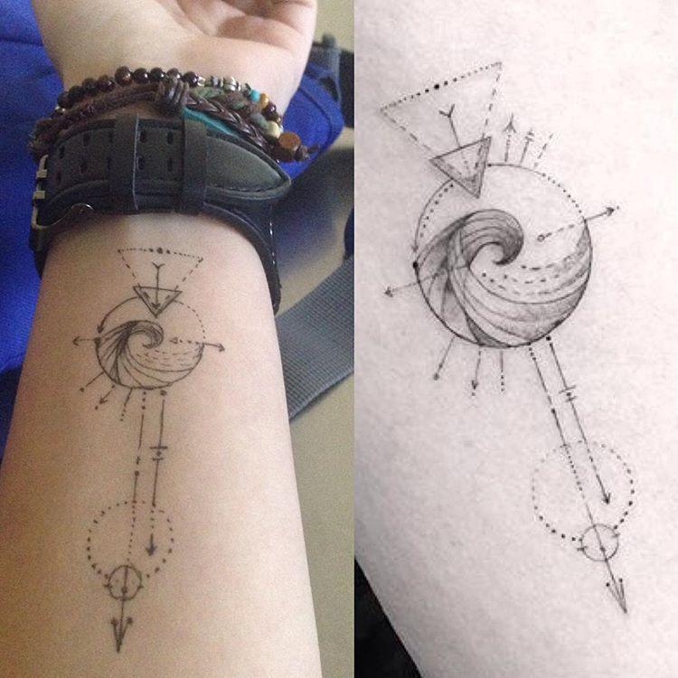 Aquarius Sign Tattoo Constellation Symbol (38)