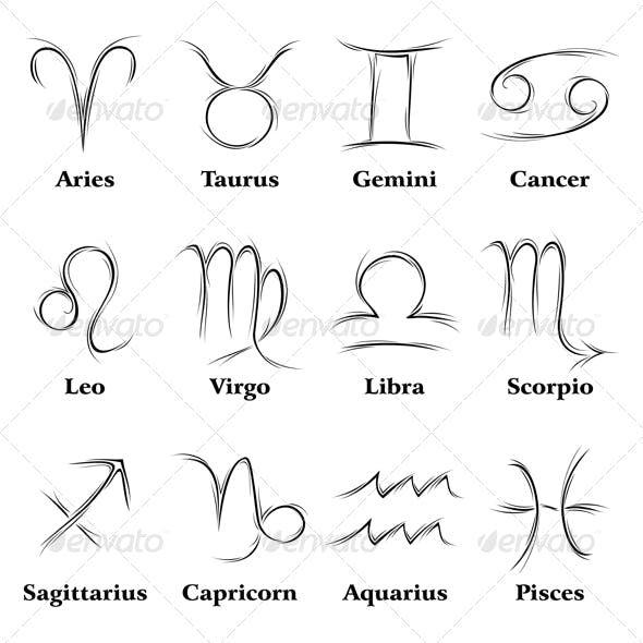Aquarius Sign Tattoo Constellation Symbol (39)