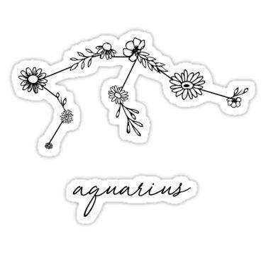 Aquarius Sign Tattoo Constellation Symbol (4)