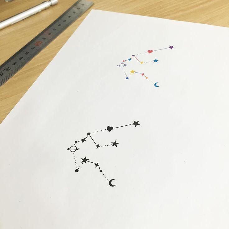 Aquarius Sign Tattoo Constellation Symbol (41)