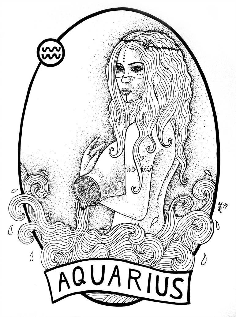 Aquarius Sign Tattoo Constellation Symbol (42)