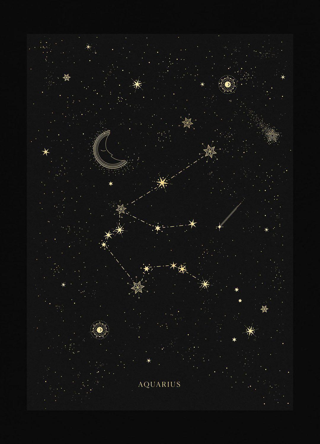 Aquarius Sign Tattoo Constellation Symbol (45)
