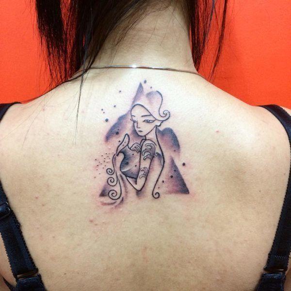 Aquarius Sign Tattoo Constellation Symbol (47)