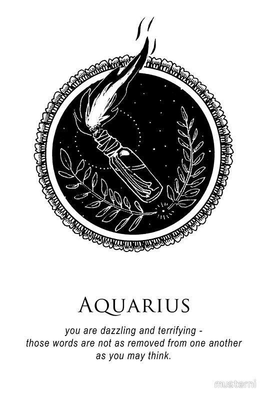 Aquarius Sign Tattoo Constellation Symbol (49)
