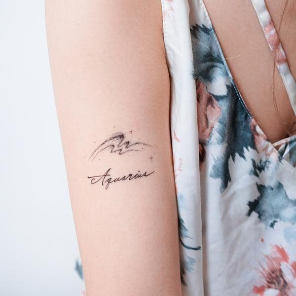 Aquarius Sign Tattoo Constellation Symbol (51)