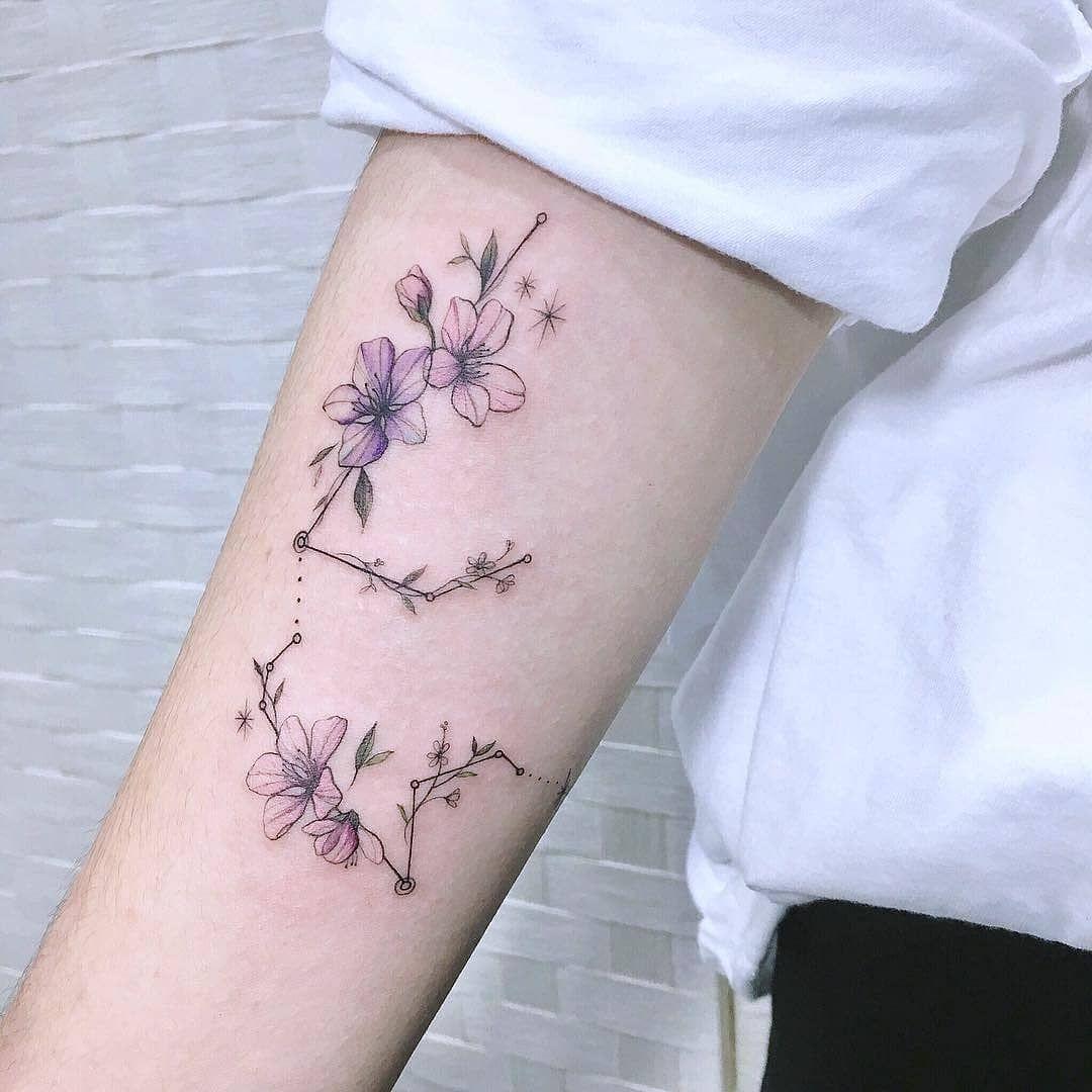 Aquarius Sign Tattoo Constellation Symbol (55)