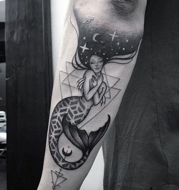 Aquarius Sign Tattoo Constellation Symbol (6)