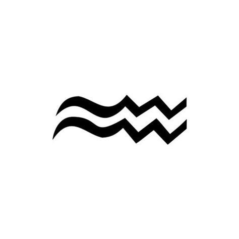 Aquarius Sign Tattoo Constellation Symbol (60)