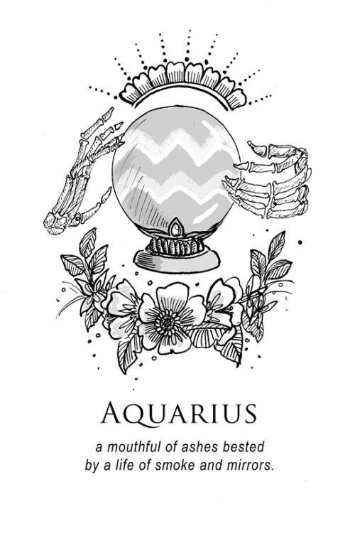 Aquarius Sign Tattoo Constellation Symbol (73)