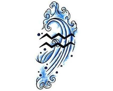 Aquarius Sign Tattoo Constellation Symbol (79)