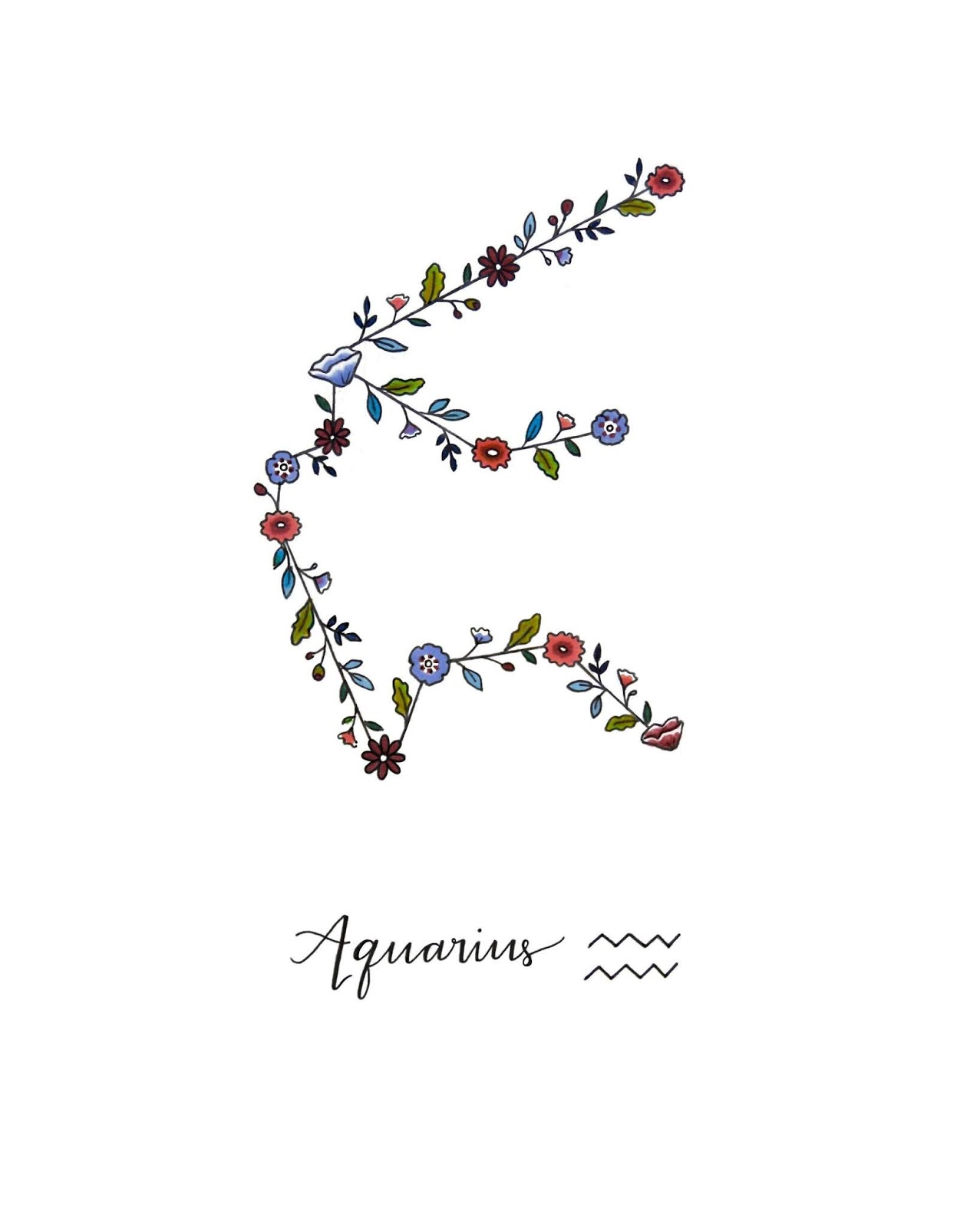 Aquarius Sign Tattoo Constellation Symbol (94)