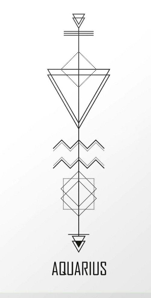 Aquarius Sign Tattoo Constellation Symbol (95)