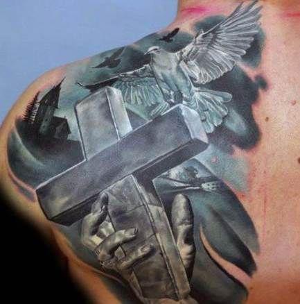Back Shoulder Tattoo Designs Ideas (120)