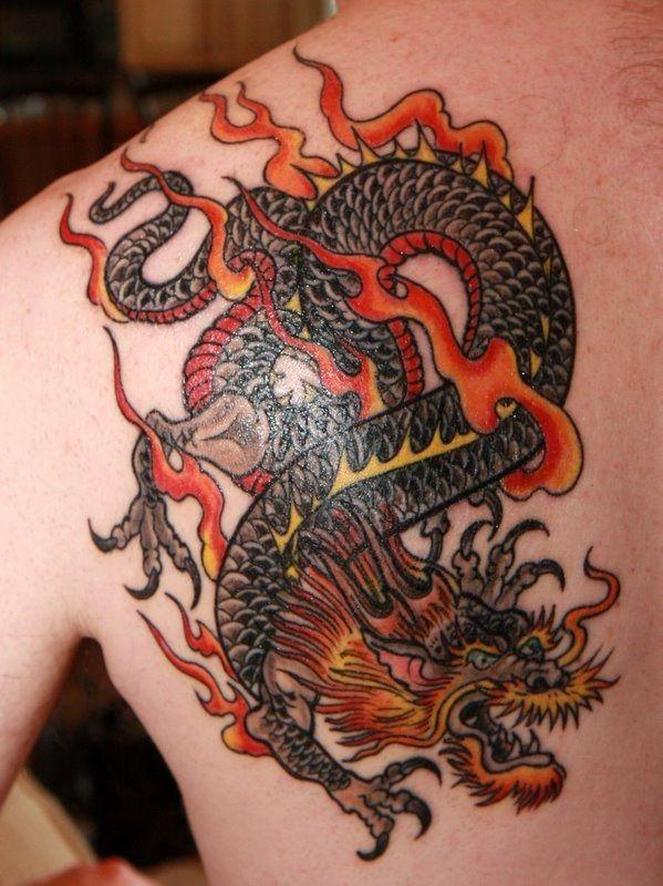 Back Shoulder Tattoo Designs Ideas (224)