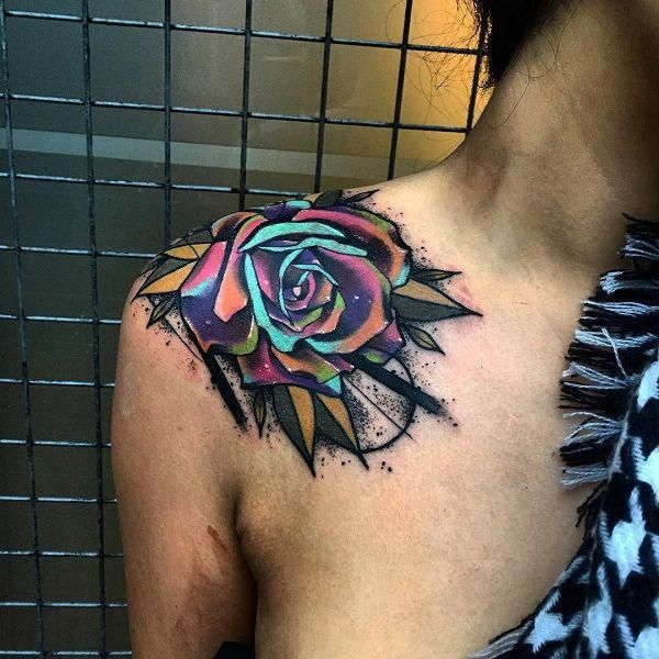 Back Shoulder Tattoo Designs Ideas (29)