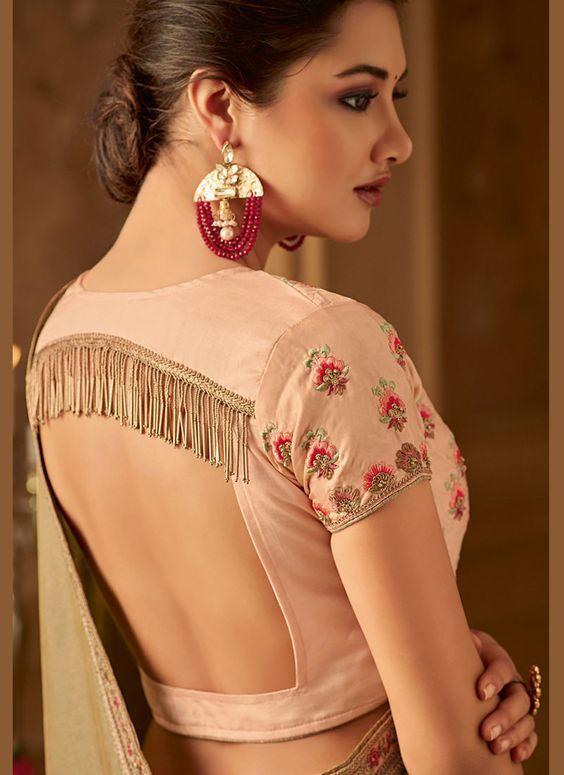 Blouse Designs For Pattu Silk Sarees (101)