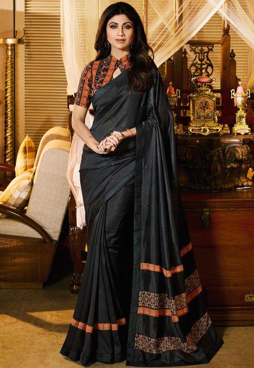 Blouse Designs For Pattu Silk Sarees (104)