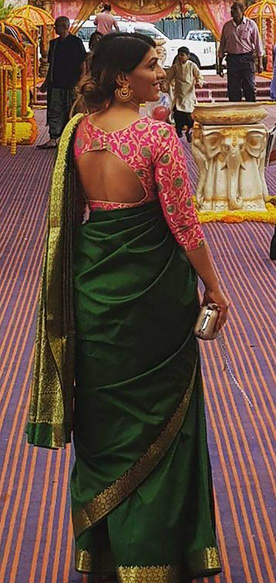 Blouse Designs For Pattu Silk Sarees (105)