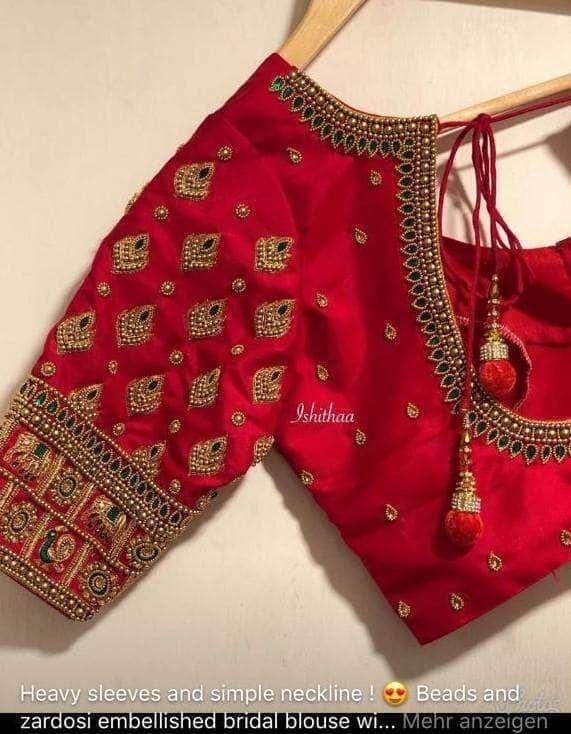 Blouse Designs For Pattu Silk Sarees (108)
