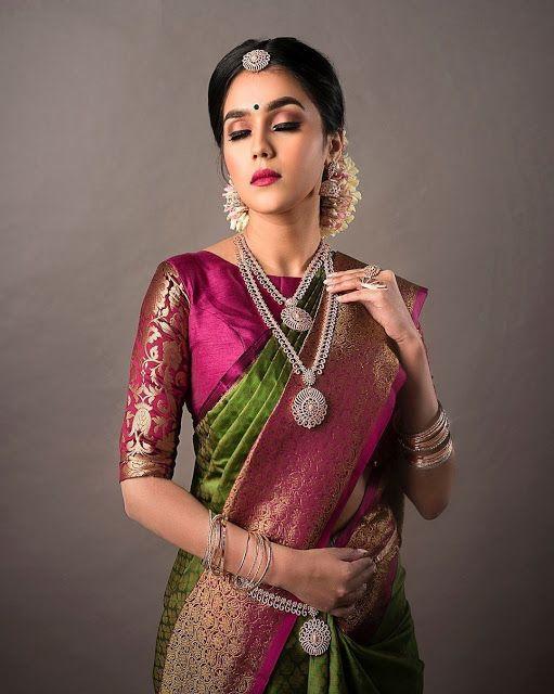 Blouse Designs For Pattu Silk Sarees (11)