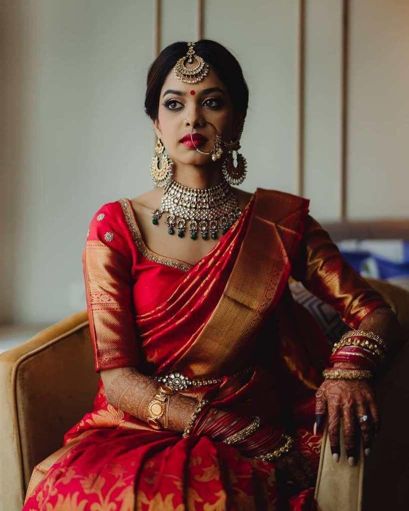 Blouse Designs For Pattu Silk Sarees (111)