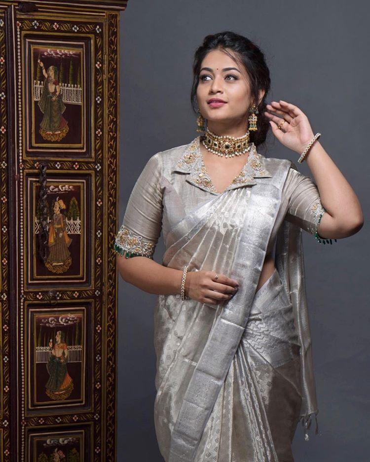 Blouse Designs For Pattu Silk Sarees (113)