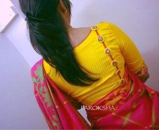 Blouse Designs For Pattu Silk Sarees (114)