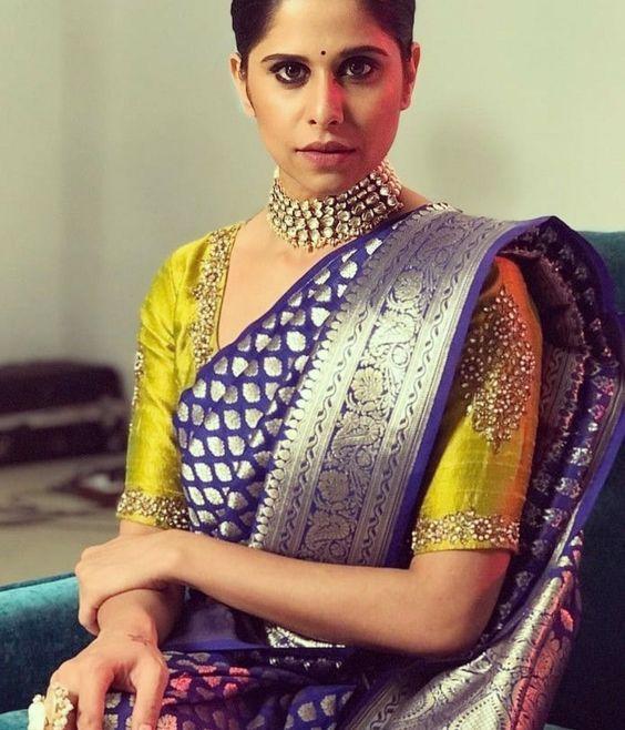 Blouse Designs For Pattu Silk Sarees (116)