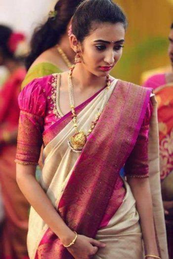 Blouse Designs For Pattu Silk Sarees (119)