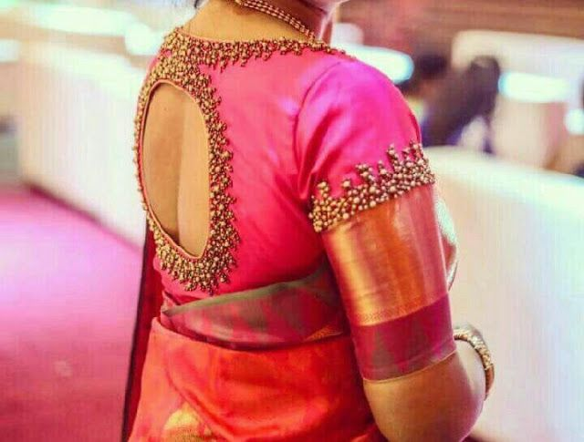 Blouse Designs For Pattu Silk Sarees (120)