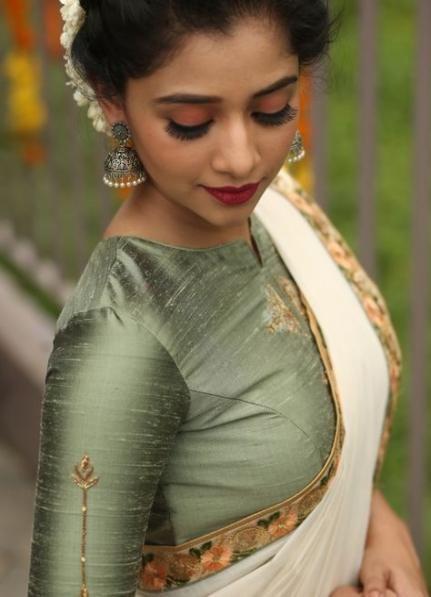Blouse Designs For Pattu Silk Sarees (123)