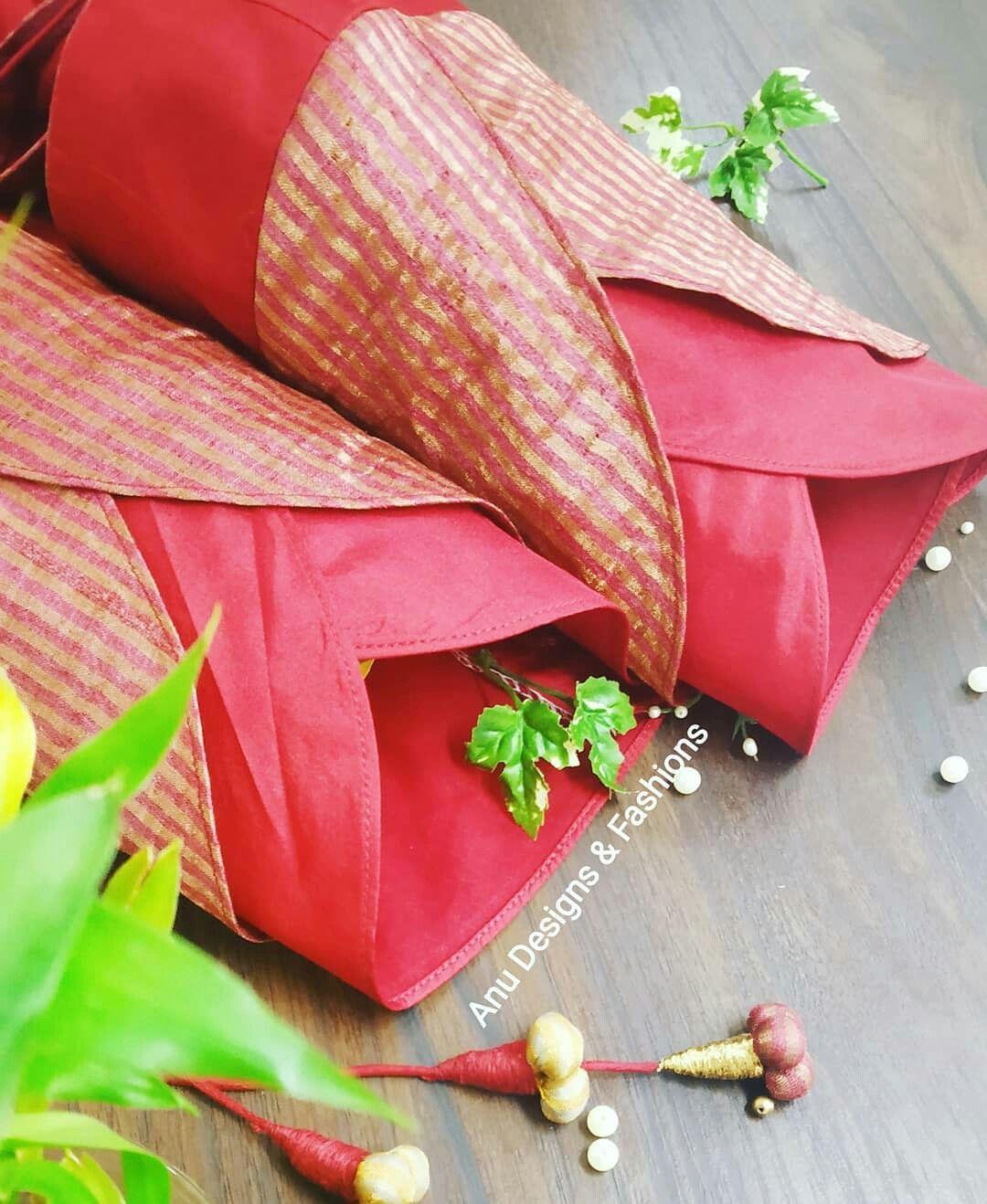 Blouse Designs For Pattu Silk Sarees (124)