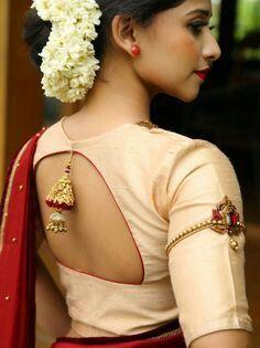 Blouse Designs For Pattu Silk Sarees (125)