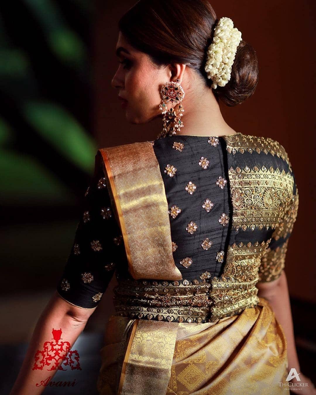 Blouse Designs For Pattu Silk Sarees (126)