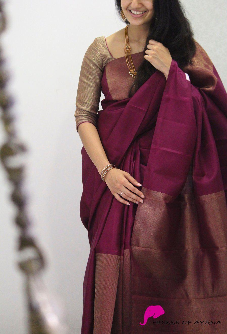 Blouse Designs For Pattu Silk Sarees (127)