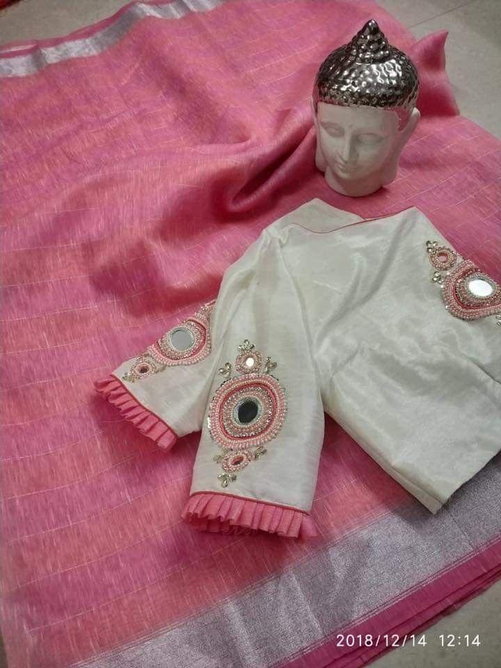 Blouse Designs For Pattu Silk Sarees (129)