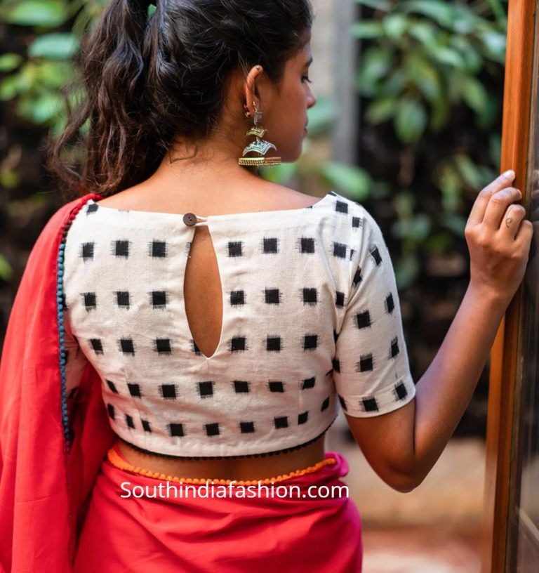 Blouse Designs For Pattu Silk Sarees (13)
