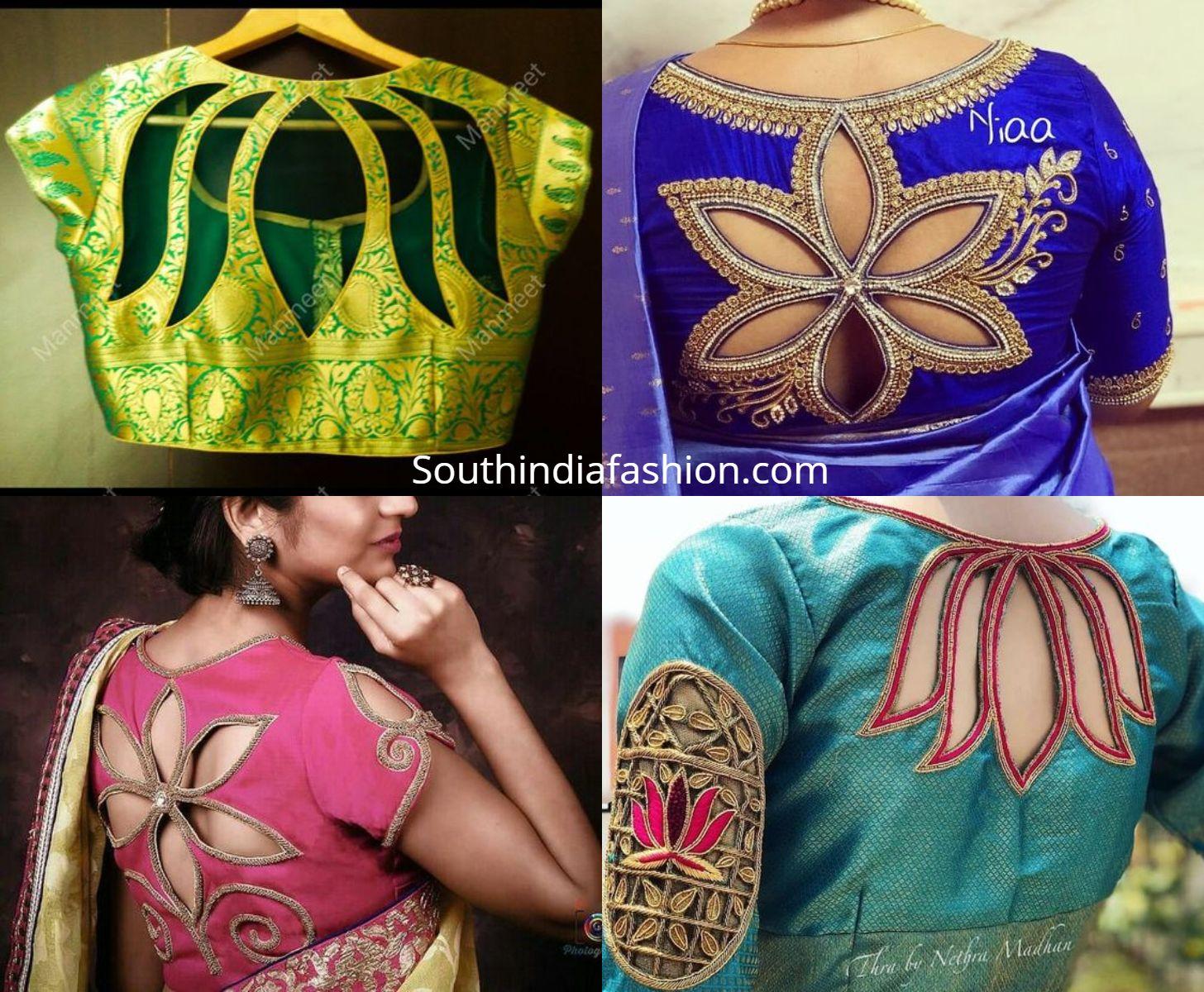 Blouse Designs For Pattu Silk Sarees (130)