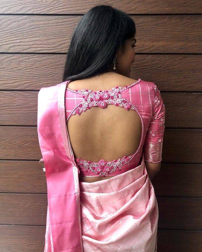 Blouse Designs For Pattu Silk Sarees (131)