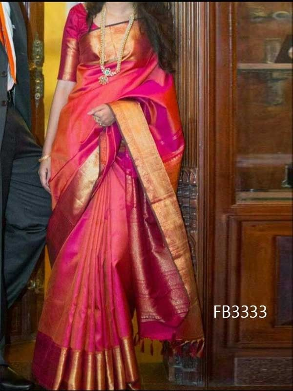 Blouse Designs For Pattu Silk Sarees (134)