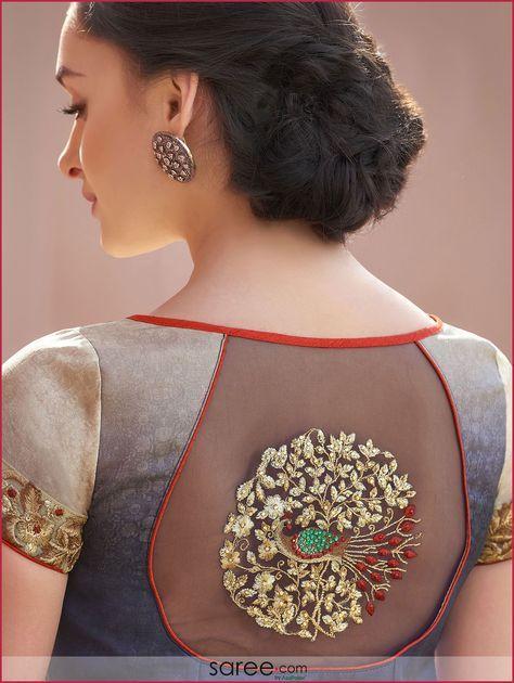 Blouse Designs For Pattu Silk Sarees (135)