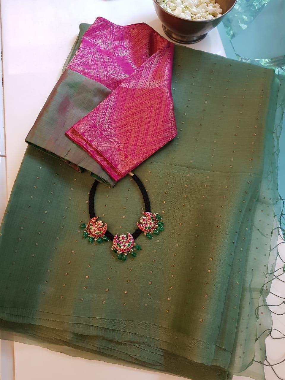 Blouse Designs For Pattu Silk Sarees (137)