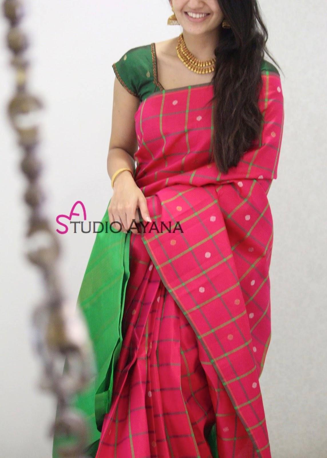 Blouse Designs For Pattu Silk Sarees (138)
