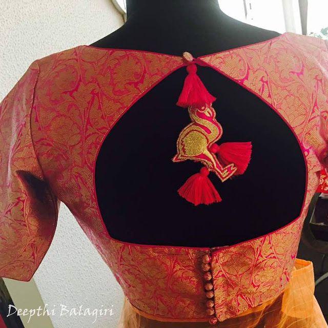Blouse Designs For Pattu Silk Sarees (14)
