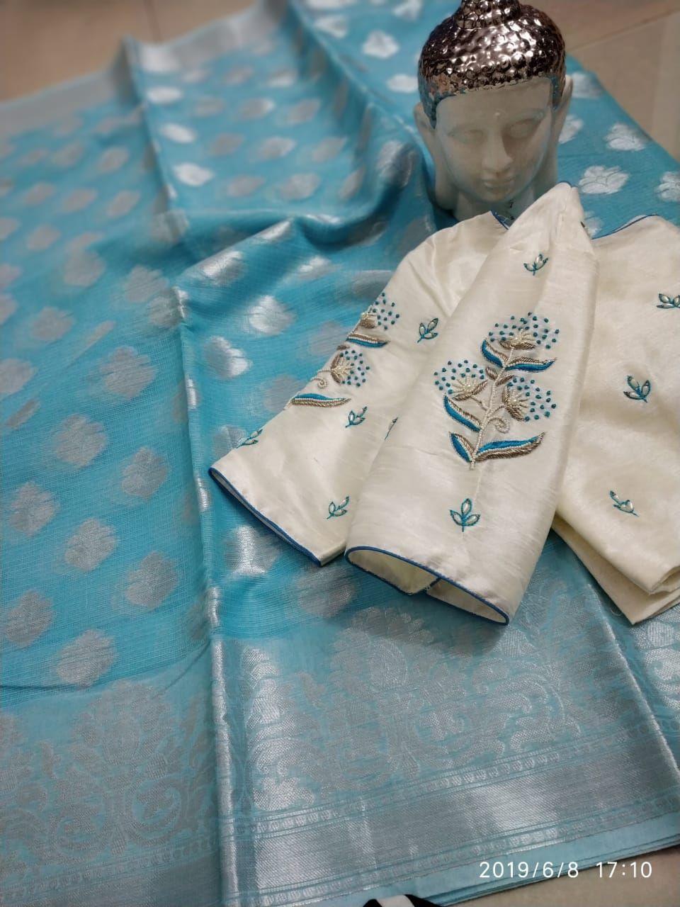 Blouse Designs For Pattu Silk Sarees (141)